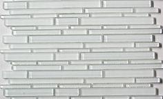 Kitchen Backsplash - Flow Glass Strips- Super White