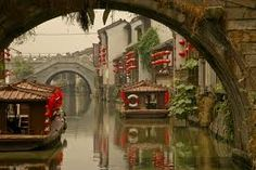 Photo about A view under a bridge to another ancient bridge with canal boats decked out with red lanterns in Suzhou, near Shanghai, China. Image of shanghai, boats, period - 5526813 Suzhou, Beautiful World, Beautiful Places, Places To Travel, Places To Visit, Chinese Architecture, China Travel, China Trip, Plein Air