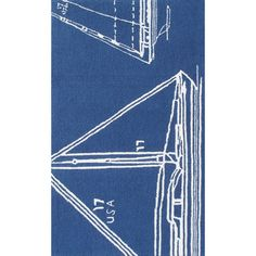 Handmade Blue/White Indoor/Outdoor Area Rug | Wayfair