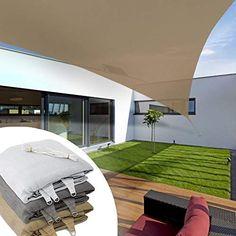 Voile d'ombrage triangulaire casa pura® balcon, pergola, jardin | polyéthylène, résistant | triangle, anti uv - 3x3x3m, sable
