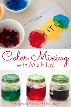 Mix It Up: Fun Color Mixing Activity for Preschool and Kindergarten. The perfect activity to do after reading the book Mix It Up by Herve Tullet! - Pre-K Pages