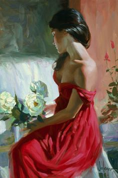 From a Rose by Vladimir Volegov - Vladimir's vibrant color palette and bold strokes coalesce to create evocative images that possess a timeless sensibility.