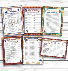 Check out these affordable & fun March Madness games and activities, they're great for kids, adults, teens and even senior citizen centers! Everybody could use some extra fun! Office Party Games, Adult Party Games, Party Activities, Activity Games, St Patrick's Day Games, Ice Breaker Games, Emoji Games, March Madness, Word Games
