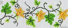 This Pin was discovered by Arz Cross Stitch Boarders, Cross Stitch Fruit, Cross Stitch Flowers, Cross Stitch Charts, Cross Stitch Designs, Cross Stitching, Cross Stitch Embroidery, Cross Stitch Patterns, Tapestry Crochet