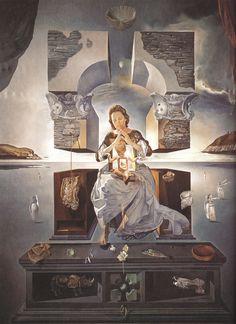 Salvador Dali, art, painting, surrealism, 1950s, 1950, The Madonna of Port Lligat