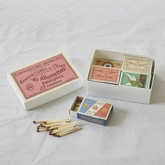 Tiny Boxes of French matches (set of 8) – Bleak House