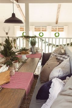 Christmas Home Tour Part 2 - 2014. Jenna Sue Designs -- cozy cabin in Northern California.