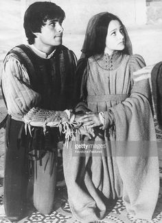 Actors Leonard Whiting and Olivia Hussey filming the wedding scene of the Franco Zeffeirelli film 'Romeo and Juliet', in an ancient Etruscan church in Tuscany, September 4th 1967.