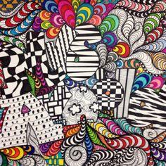 7th Grade Op Art