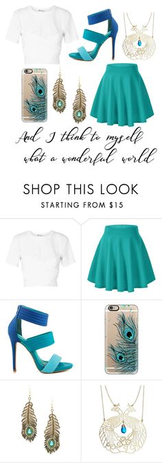 """""""Hera Cabin: Semi Casual"""" by ls-purplegirl ❤ liked on Polyvore featuring T By Alexander Wang, Shoe Republic LA, Casetify, Eye Candy and Kris Nations"""