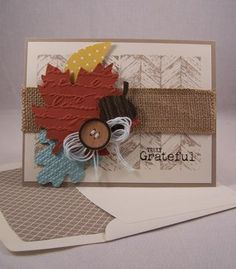 Truly Grateful Autumn Card-Add bursts of color and texture with Autumn Accents dies and embossing folders  #Autumnaccents #stampinupcard #trulygrateful  www.stampingcountry.com