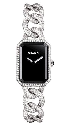 2013 Première Watch How spectacular is this Chanel Diamond watch? How spectacular is this Chanel Diamond watch? Stylish Watches, Luxury Watches, Chanel Watch, Jewelry Accessories, Fashion Accessories, Chanel Jewelry, Chanel Fashion, Beautiful Watches, Fashion Watches