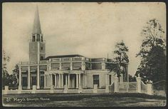 A postcard depicting St. Mary's Church.