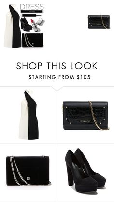 """""""On Trend: Two-Tone Dresses"""" by lululafitte on Polyvore featuring moda, Halston Heritage, Givenchy, Casadei y Burberry"""