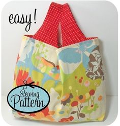 Sewing Pattern to Make a Grocery Bag - PDF