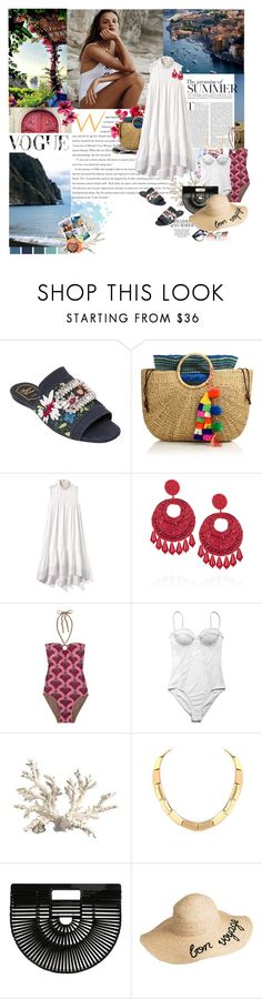 """The promise of summer II"" by mariaiw ❤ liked on Polyvore featuring Roger Vivier, Magdalena, JADEtribe, 3.1 Phillip Lim, Kenneth Jay Lane, Matthew Williamson, Seventh Wonderland, Crate and Barrel, Belle Noel by Kim Kardashian and Cult Gaia"