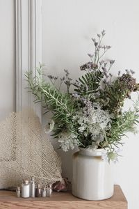 Country Garden flowers with rosemary.