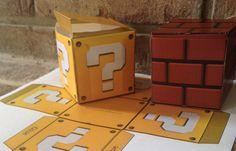 DIY JUMBO Question Mystery Box & Brick Mario Video by CoastieLife