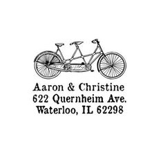 Bicycle built for two return address custom tandem di terbearco, $29.99