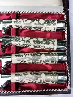 Carving Set 4 Piece Hand Forged in Solingen Germany Stainless Steel Ivory VTG by coveteur on Etsy
