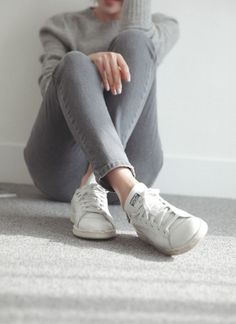 Lounging in white sneakers #pixiemarket