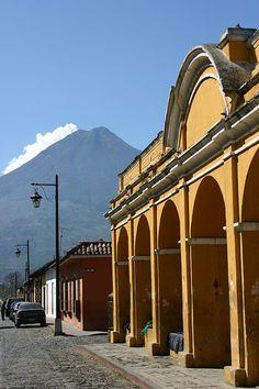 Volcanoes around the city, Antigua, Guatemala