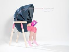 The Soothing Chair is a cocoon-like chair Designed by Dorja Benussi