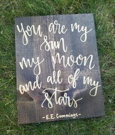 wood signs that will add rustic charm to your house decor 1 Painted Signs, Wooden Signs, Wooden Crafts, Diy And Crafts, Wooden Art, You Are My Moon, Little Doll, Paint Pens, Diy Signs