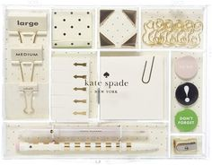 Kate Spade New York Tackle Stationary Box