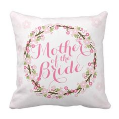 Mother of the Bride Watercolor Wedding Pillow - decor gifts diy home & living cyo giftidea