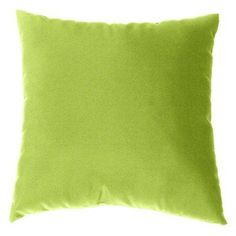 Cushion Source 17 x 17 in. Solid Sunbrella Indoor / Outdoor Throw Pillow Macaw - E63AI-5429, Durable