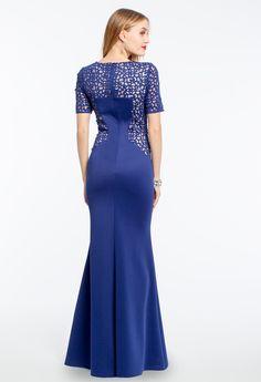 Laser Cut Two Tone Dress #camillelavie #CLVprom