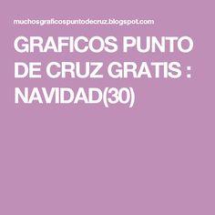 GRAFICOS PUNTO DE CRUZ GRATIS : NAVIDAD(30)