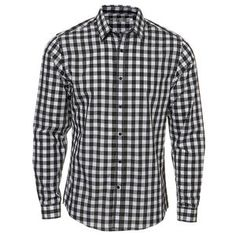 Black Gingham Check Shirt