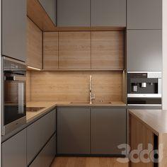 Kitchen Bar Design, Kitchen Cupboard Designs, Interior Design Kitchen, Apartment Kitchen, Home Decor Kitchen, Small Modern Kitchens, Apartment Interior Design, Cuisines Design, Kitchen Remodel