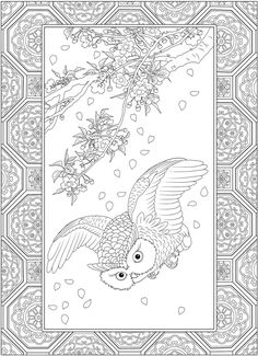 Welcome to Dover Publications Owl Coloring Pages, Cat Coloring Page, Adult Coloring Book Pages, Printable Adult Coloring Pages, Doodle Coloring, Creative Haven Coloring Books, Music Drawings, Japanese Design, Dover Publications