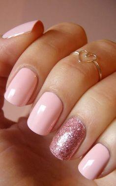 rose quartz manicures #1