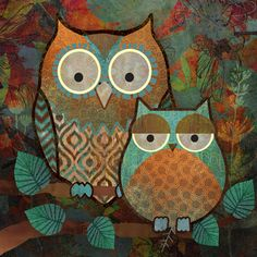'Owls II' by Abby White