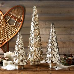 Two's Company Set Of 3 Mercury Trees – Modish Store
