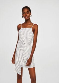 Knot asymmetric dress