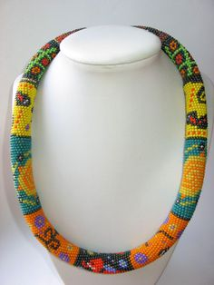 Handmade necklace made in african style