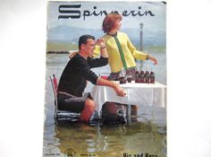 1963 Knitting Book Spinnerin His and Hers by lizandjaybooksnmore, $8.00