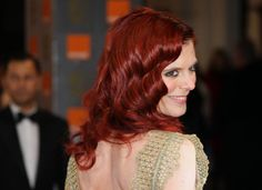 Emilia Fox rocks red