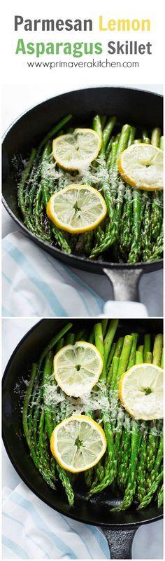 Parmesan Lemon Asparagus Skillet