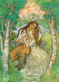 Beauty and the Beast illustration by Rebecca Guay