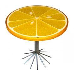 resin orange slice end table