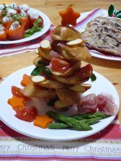 「フランスパンと生ハムのクリスマスツリー☆」シフォン | お菓子・パンのレシピや作り方【corecle*コレクル】