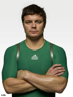Brian O'Driscoll, all-time rugby hero. I'm going to cry like a baby when he retires soon