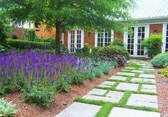 Geometric Walkway Design Walkway and Path The Southern Landscape Group Pinehurst, NC