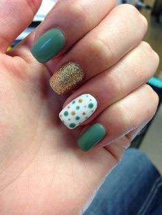 My St. Patty's Day nails, love them!